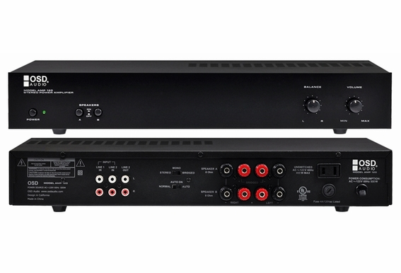 AMP120 Dual Source 2-Channel Stereo Amplifier - B Stock