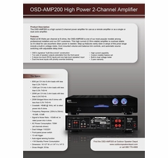 AMP200 High Current Amplifier Information