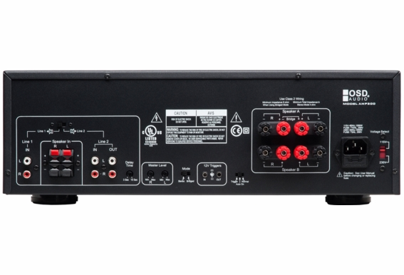 AMP300 High Power 2-channel 235W Each Channel Stereo Amplifier, Class A/B Toroidal Transformers, Dual Source Switching, 2, 4 -8Ω ETL and CE Certified