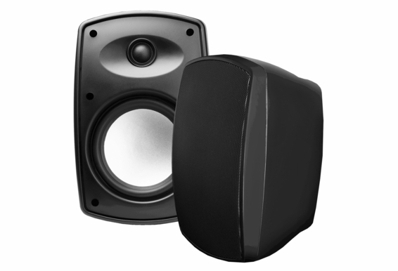 "AP650 6.5"" High Definition Outdoor Patio Speaker Pair, Composite Resin Low Resonator Cabinet 2-Way 70V - Black"