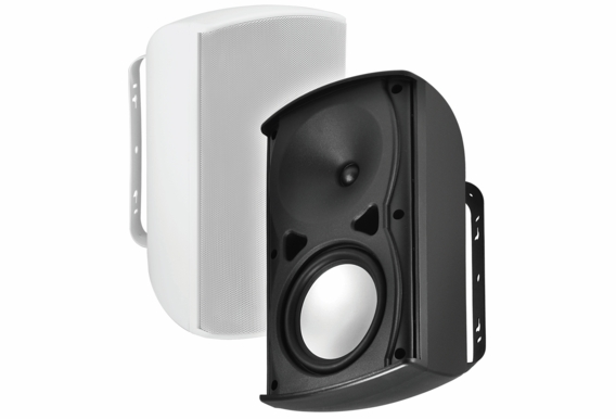 "AP670 Performance Architectural Composite Resin Low Resonator Cabinet Outdoor Patio Speaker 2-Way 6.5"" Pair Black White"