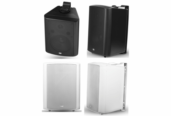 """AP840 Outdoor Patio Speaker 8"""" 200W High Performance 2-Way (Black White Color -Pair)"""