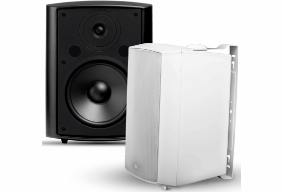"AP840 Outdoor Patio Speaker 8"" 200W High Performance 2-Way (Black White Color -Pair)"