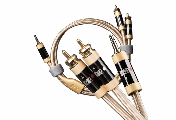 Aurum Series 3.5mm to Dual Male RCA Adaptor Cable for Mobile Devices, Pure Copper Conductors and Donut Extender [3.2FT - 16.4FT]