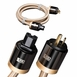 Aurum Series Audiophile-grade AC Power Cable, 14 Gauge with Three Pure Copper Conductors - Single Cable [3.2FT - 16.4FT]