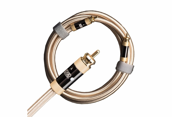 Aurum Series Ultra High-Performance, Unbalanced Subwoofer Cable, 100% Shield Low (Signal) Level RCA Male to RCA Male, Single Cable  [3.2FT - 49.2FT]