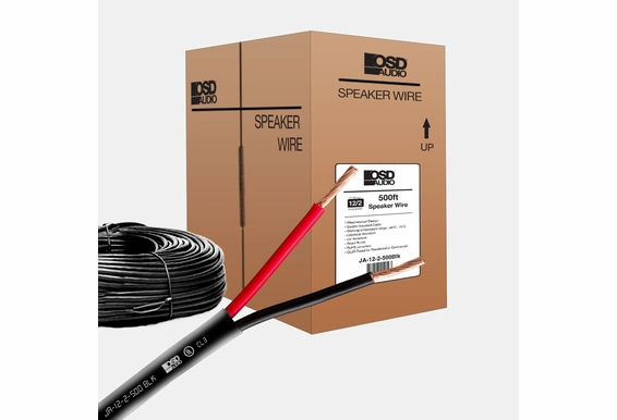 Black 12 Gauge 2-conductor Oxygen Free Burial Rated In Wall Speaker Cable CL3 - 500 FT