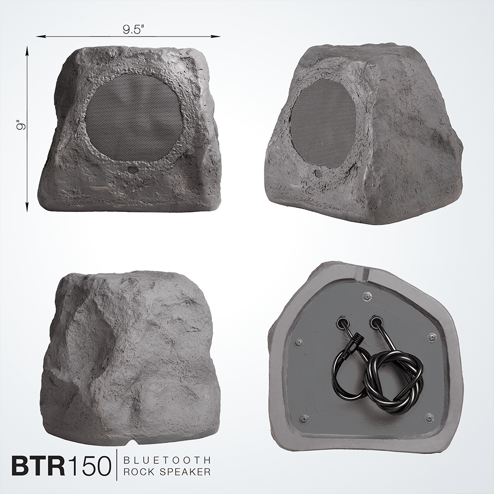 Btr150 Wireless 5 25 Bluetooth Rock Speaker Pair Ip67 Waterproof Adapter Sandstone Canyon
