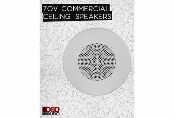 "C1070 8"" Ceiling 70V Speaker with 5W 2.5W 1W 0.5W With 12"" Grill"