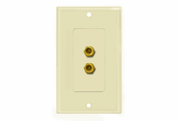 """Double """"F"""" Connector Wallplate"""
