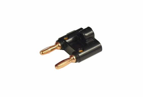 Dual Banana Plug Speaker Connector 24K Gold Plated - 5 Pack