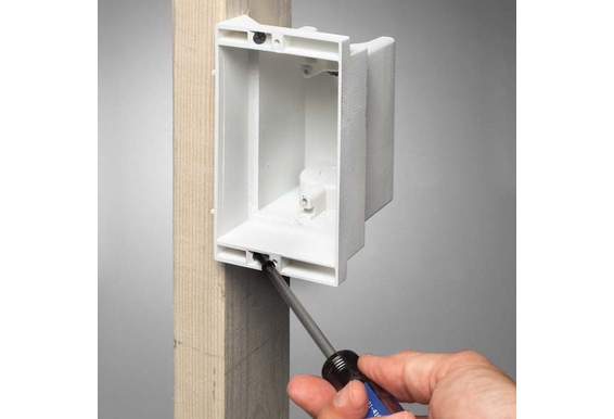DVFR1W Recessed 1 Gang Wall Box