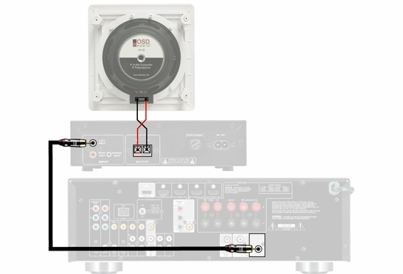"""Home Theater 150W In Wall Subwoofer 8"""" OSD Audio IWS8"""