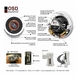 "ICE840TT Dual Voice Coils 8"" High Definition Ceiling Speaker"