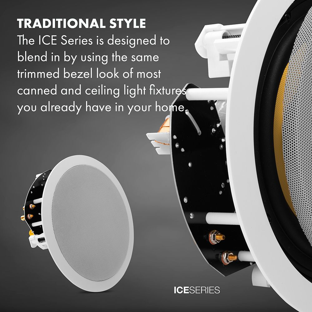 Ice870 Angled Lcr In Ceiling Speaker With 8 Quot Carbon Fiber