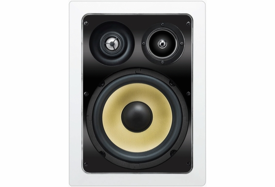 "In Wall Speaker 8"" Kevlar® Woofers 1"" Piovting Aluminum Tweeter 2"" Midrange 3-Way Home Theatre (IW850 Pair)"