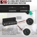 ISS4 4x Pair High Power Speaker Selector with Impedance Protection and Easy Input/Output Connectors
