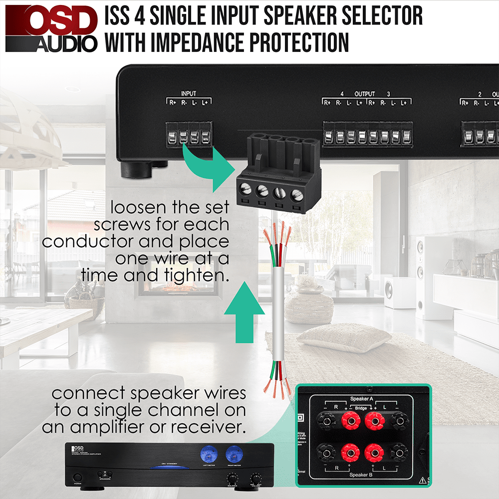 how to connect speaker selector