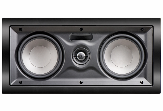 "IW525 In Wall Center Channel LCR Dual 5.25"" Woofers 1"" Silk Pivoting Tweeter 100W Home Theatre Speaker Trimless (Single)"