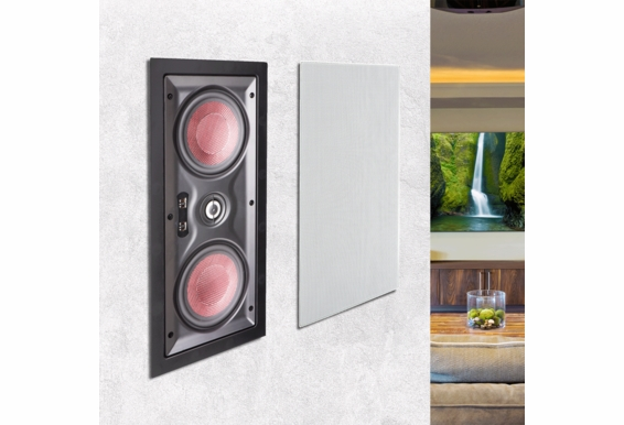 """IW550LCR In Wall Center Channel LCR Trimless Dual 5.25"""" Carbon Woofers 1"""" Aluminum Pivoting Tweeter 150W  Speaker (Single)"""