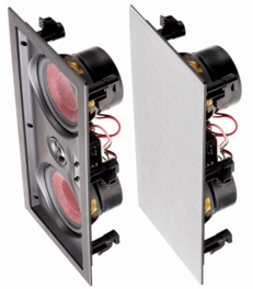 "IW550LCR In Wall Center Channel LCR Trimless Dual 5.25"" Carbon Woofers 1"" Aluminum Pivoting Tweeter 150W  Speaker (Single)"
