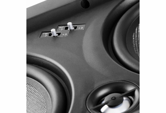 "IW650 Trimless In-Wall LCR Speaker with Dual 6.5"" Black Kevlar Cone Woofers and 1"" Aluminum Dome Tweeter, 200W (Single)"