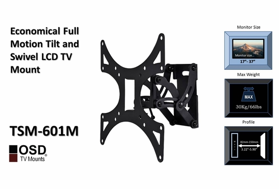 "LCD TV Mount for Corners 17""- 37"" OSD TSM-601M"