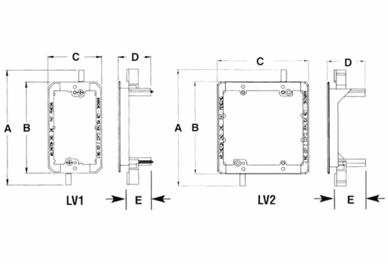 LV1 1 Gang Mounting Brackets for Low Voltage Wiring