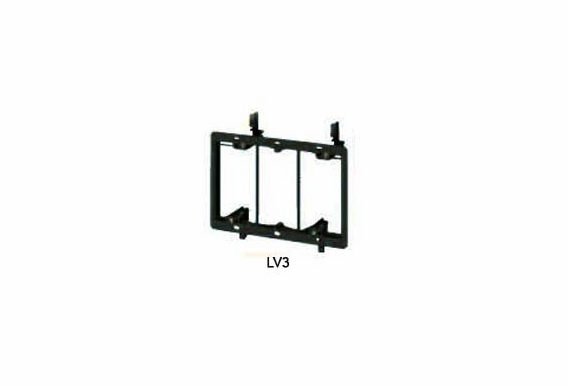LV3 3-Gang Mounting Brackets for Low Voltage Wiring