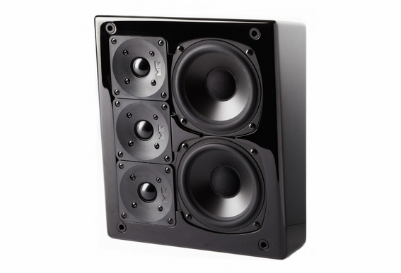 M&K Sound® MP150II THX Ultra2 Certified Right or Center Channel On-Wall Loudspeaker, Single - Black