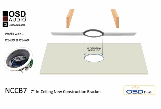 """NCCB7 New Construction Bracket Single For 6.5"""" Ceiling Speakers"""
