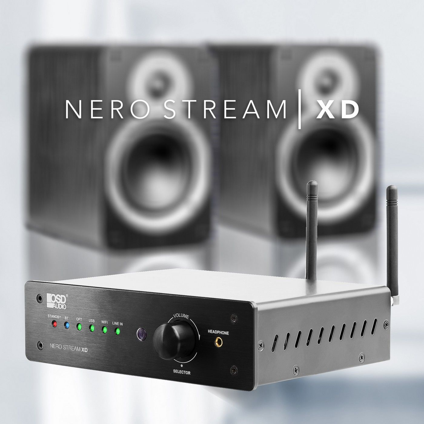 nero-stream 200w hi-fi dac class d amplifier, bluetooth� wireless, wi-fi,  optical, rca, 3 5mm inputs, remote control