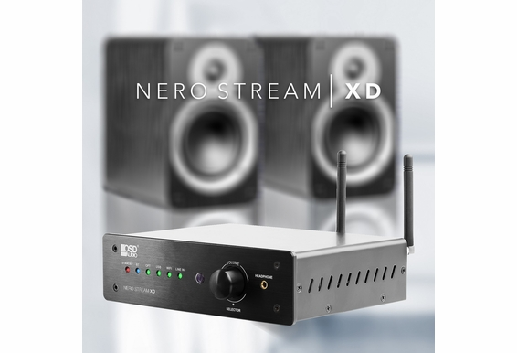 Nero-Stream 200W Hi-Fi DAC Class D Amplifier, Bluetooth® Wireless, Wi-Fi, Optical, RCA, 3.5MM Inputs, Remote Control