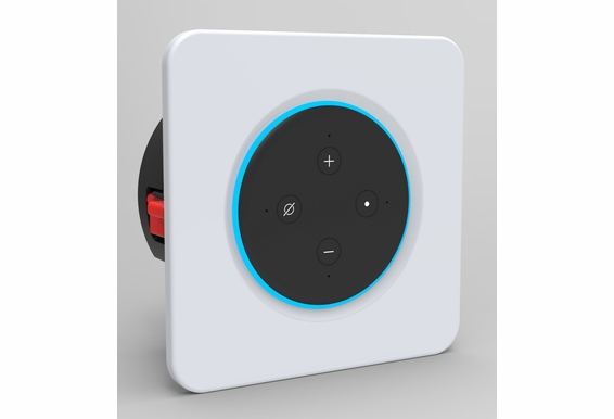 NERO VOX In-Wall Docking Station for Alexa Echo Dot Gen 3 & 4 with/40 Watt Amplifier. Single/Multi Room App Audio Wi-Fi, Bluetooth and Voice Activation System