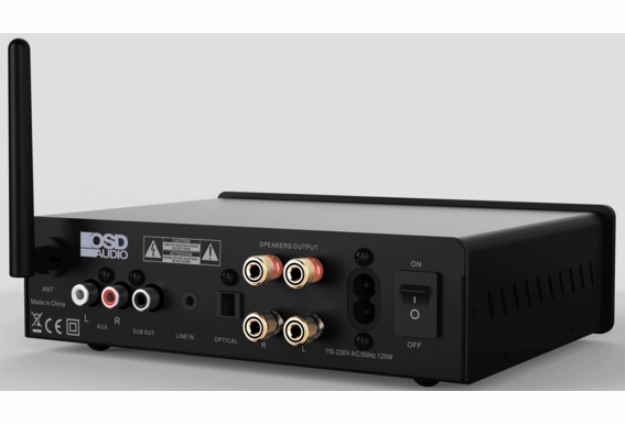 Nero-XD 200W HiFi DAC 2-Channel Class D Stereo Power Amplifier, Bluetooth® Wireless, Optical, RCA, 3.5MM Inputs, Remote Control