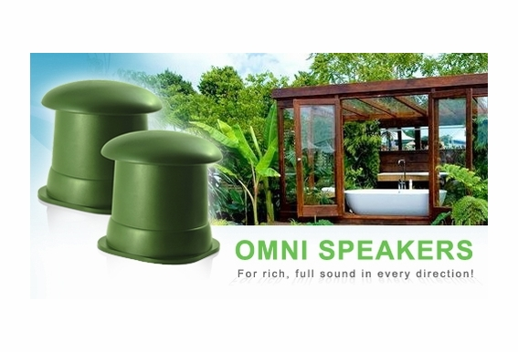 "OS525 Back Ground Music 5.25"" Omni Speakers (Green Pair)"