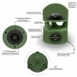 """OS850 High Definition Omni 8"""" Two-Way Outdoor Ground Speaker (8 Ohms/Optional 70V Single)"""