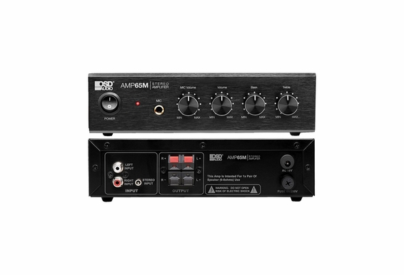 "OSD Audio AMP65 50W RMS (25Wx2) Aluminum Face Plate Compact Stereo Amplifier w/ 1/4"" Mic Input"