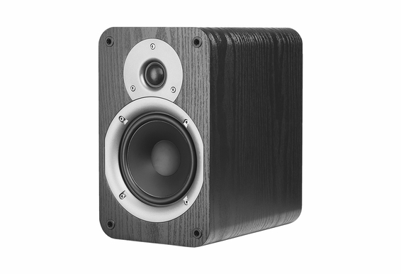 "OSD Audio Nero Studio5 Bookshelf Monitor Speaker Pair with 5.25"" Woofer and 1"" Silk Dome Tweeter, Dynamic Power Handling 100W - Black"