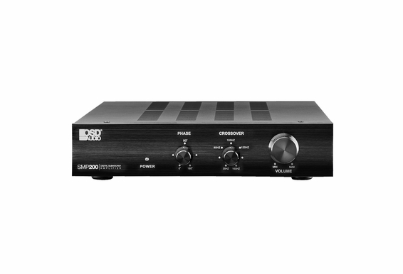 OSD Audio SMP200 Class D Digital Subwoofer Amplifier with Auto Sensing, Phase and Crossover Control and 200 Watts of Power (4 Ohms)