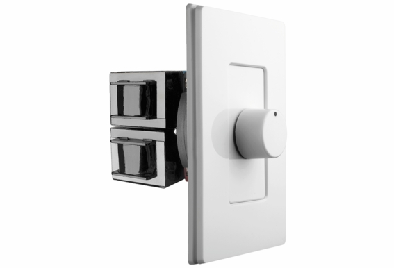 OSD Screwless Rotary Knob Volume Control 100W Impedance Matching SLK100 Decra Style Wall Plate Snap On