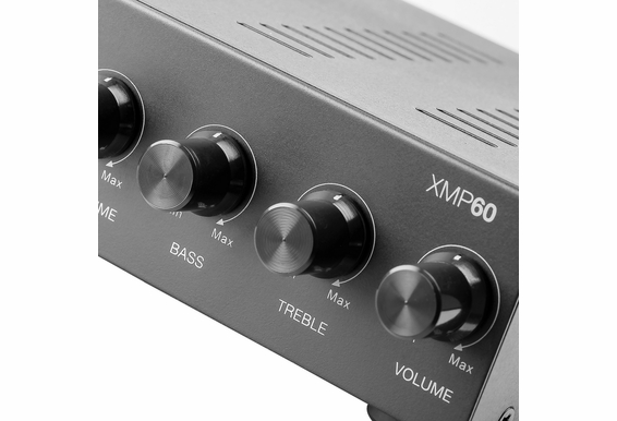 OSD XMP60 60W Class D Digital Stereo Mini Power Amplifier/Mic Mixer with Source Sensing and Bridge Modes (8 Ohm Stable)