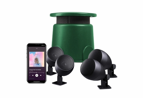 """Outdoor Bluetooth 4.1 Outdoor Package, 8"""" Powered Outdoor Omni Subwoofer 100W Power W/ 4x 60W Satellite Speaker Output - Choose your Speakers"""