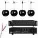 "PA90 Commercial Amplifier, 16g Speaker Wire, & Four (4) 6.5"" 2-Way Pendant Speakers - Black or White"