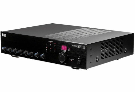 PAM245 240W High Power Class D Multi-Channel Commercial 70 Volt Amplifier w/ IR Remote