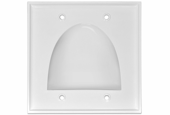 Pass Through Bundle Cable Wall Plate Dual Gang - 1, 5, 10, or 15 Pack