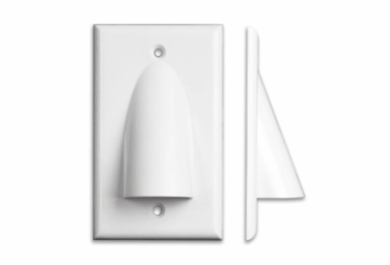 Pass Through Bundle Cable Wall Plate Single Gang - 1, 5, 10, or 15 Pack
