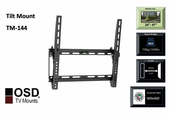 "Plasma/LCD/LED Tilt Mount 26""- 47"" OSD TM-144"