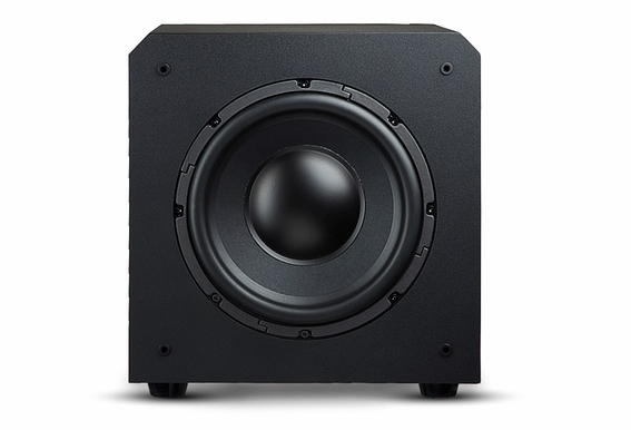 "PS10 10"" High Definition Custom Built 250W Home Theater Subwoofer Black Wood Veneer, Single Drive"