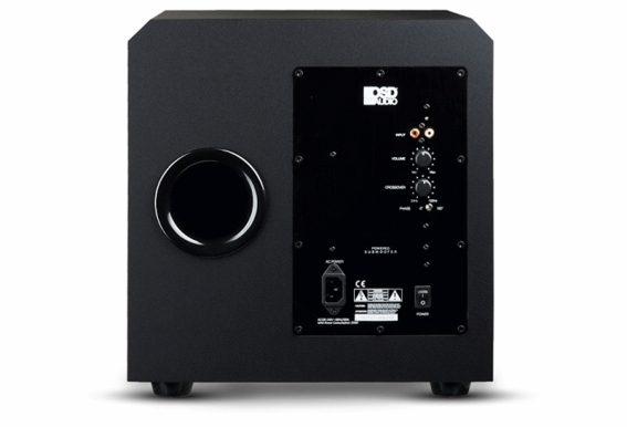 "PS12 12"" Custom Built High Definition 300W Home Theater Subwoofer Black Wood Veneer, Single Drive"